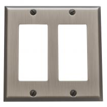 Baldwin 4741 Beveled Edge Double GFCI Switch Plate