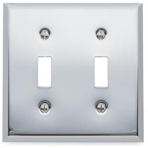 Baldwin 4761 Beveled Edge Double Toggle Switch Plate