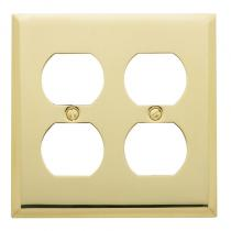 Baldwin 4771 Beveled Edge Double Duplex Switch Plate