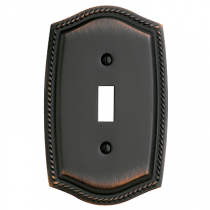 Baldwin 4788 Rope Single Toggle Switch Plate