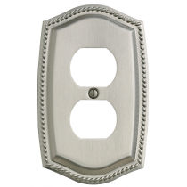 Baldwin 4789 Rope Duplex Switch Plate