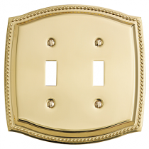 Baldwin 4790 Rope Double Toggle Switch Plate