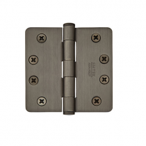 "Emtek 4"" x 4"" Solid Brass Radius Corner Heavy Duty Hinges (Pair)"