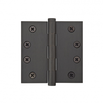 "Emtek 4"" x 4"" Solid Brass Square Corner Heavy Duty Hinges (Pair)"