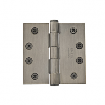 "Emtek 4"" x 4"" Solid Brass Square Corner Residential Duty Hinges (Pair)"