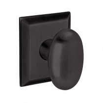 Baldwin Estate 5024 Oval Knob Door Knob Set with Squared Rose