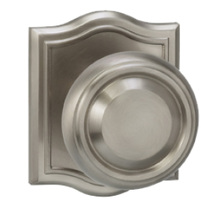 Omnia 565AR Traditional Door Knob Set with Arched Rose from the Prodigy Collection