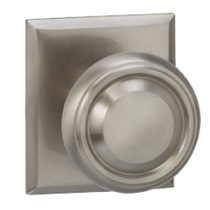 Omnia 565RT Traditional Door Knob Set with Rectangular Rose from the Prodigy Collection