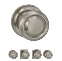 Omnia 565 Traditional Door Knob Set from the Prodigy Collection
