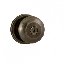Weslock Traditionale Collection Impresa Keyed Entry Door Knob Set