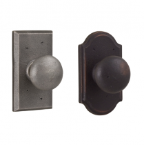 Weslock Molten Bronze Collection Wexford Single Dummy Door Knob with choice of decorative rose