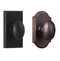 Weslock Molten Bronze Collection Durham Single Dummy Door Knob with choice of decorative rose