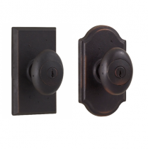 Weslock Molten Bronze Collection Durham Keyed Entry Door Knob Set with choice of decorative rose