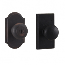 Weslock Molten Bronze Collection Wexford Keyed Entry Door Knob Set with choice of decorative rose