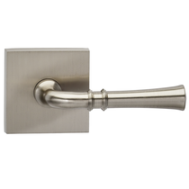 Omnia 785SQ Traditional Door Lever Set with Square Rose from the Prodigy Collection