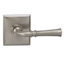 Omnia 785RT Traditional Door Lever Set with Rectangular Rose from the Prodigy Collection