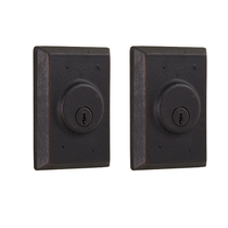 Weslock Molten Bronze Collection 7972 Square Double Cylinder Deadbolt