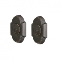 Emtek 8366 #8 Brass Double Cylinder Deadbolt