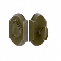 Emtek 8457 Sandcast Bronze #1 Style Single Cylinder Deadbolt