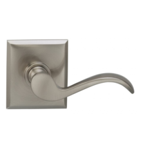 Omnia 895RT Wave Door Lever Set with Rectangular Rose from the Prodigy Collection