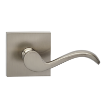 Omnia 895SQ Wave Door Lever Set with Square Rose from the Prodigy Collection