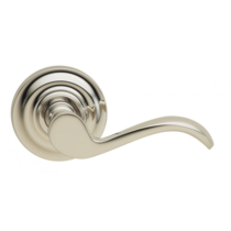 Omnia 895TD Wave Door Lever Set with Traditional Rose from the Prodigy Collection