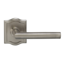 Omnia 912AR Modern Door Lever Set with Arched Rose from the Prodigy Collection