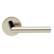 Omnia 912MD Modern Door Lever Set with Modern Rose from the Prodigy Collection