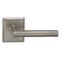Omnia 912RT Modern Door Lever Set with Rectangular Rose from the Prodigy Collection