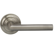 Omnia 912TD Modern Door Lever Set with Traditional Rose from the Prodigy Collection