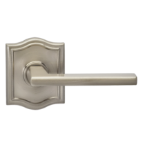 Omnia 925AR Contemporary Door Lever Set with Arched Rose from the Prodigy Collection