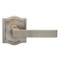 Omnia 930AR Square Door Lever Set with Arched Rose from the Prodigy Collection