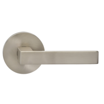 Omnia 930MD Square Door Lever Set with Modern Rose from the Prodigy Collection