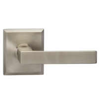 Omnia 930RT Square Door Lever Set with Rectangular Rose from the Prodigy Collection