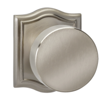 Omnia 935AR Modern Door Knob Set with Arched Rose from the Prodigy Collection