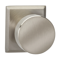 Omnia 935RT Modern Door Knob Set with Rectangular Rose from the Prodigy Collection