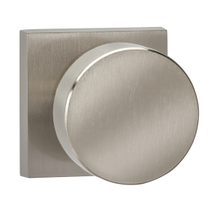 Omnia 935SQ Modern Door Knob Set with Square Rose from the Prodigy Collection
