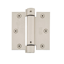 "Emtek 3-1/2"" x 3-1/2"" Plated Steel Square Corner Spring Hinges (Pair)"