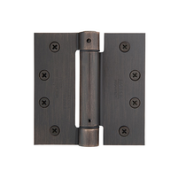 "Emtek 4"" x 4"" Plated Steel Square Corner Spring Hinges (Pair)"