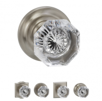 Omnia 955 Glass Door Knob Set from the Prodigy Collection