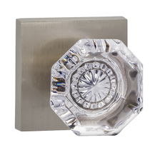 Omnia 955SQ Glass Door Knob Set with Square Rose from the Prodigy Collection
