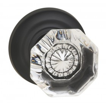Omnia 955TD Glass Door Knob Set with Traditional Rose from the Prodigy Collection