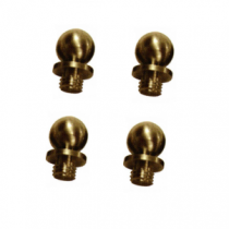 "Emtek Solid Brass Decorative Ball Tip For 4-1/2"" & 5"" Heavy Duty and Ball Bearing Solid Brass Hinge (set of 4)"