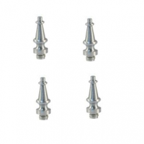 "Emtek Solid Brass Decorative Steeple Tip For 4""  Residential Solid Brass Hinge (set of 4)"