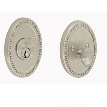 Fusion Beaded Oval Deadbolt
