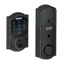 Schlage BE469NX-CAM Camelot Touch Screen Deadbolt with Nexia Home Intelligence & Alarm (Z-Wave)