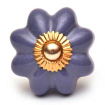 PotteryVille Purple Flower Cabinet Knob