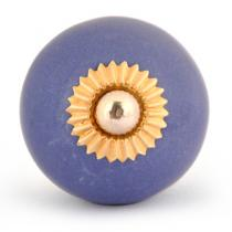 PotteryVille Blue Colored Cabinet knob