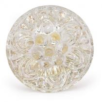 PotteryVille Clear Glass Flower Embossed Knob (Large)