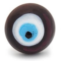 PotteryVille Violet, White & Turquoise Evil Eye Glass Knob